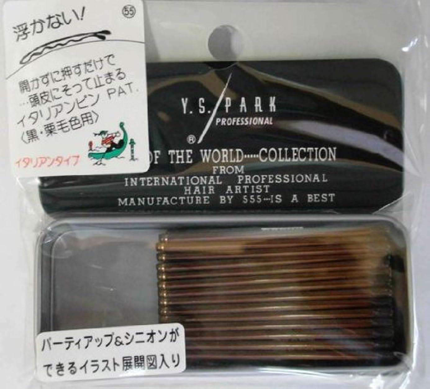 漂流おもちゃレーニン主義Y.S.PARK世界のヘアピンコレクションNo.55(黒?栗毛色用)イタリアンタイプ28P