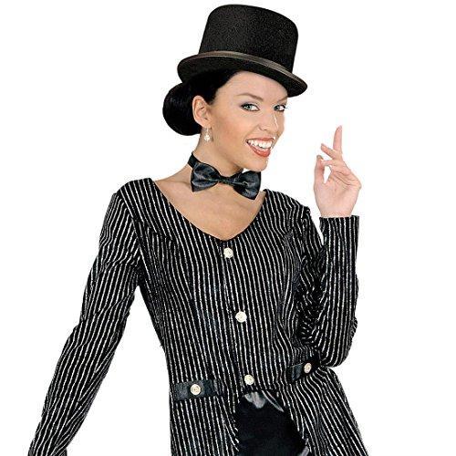 NET TOYS Chapeau Haut-de-Forme Deluxe Chapeau en Feutre Noir Chapeau de Carnaval Chapeau Haut de Forme Chapeau de Mariage Chapeau Homme Mardi Gras Carnaval