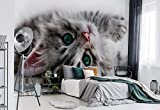 Wallsticker Warehouse Katzen Kätzchen Fototapete - Tapete - Fotomural - Mural Wandbild - (1183WM) - XL - 208cm x 146cm - VLIES (EasyInstall) - 2 Pieces