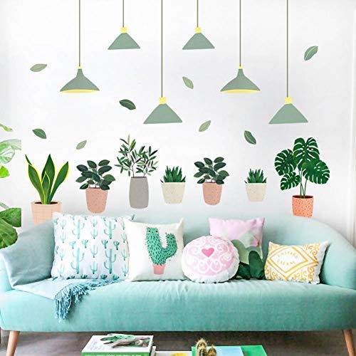 Gudojk Muurstickers, bloempot, wandstickers voor woonkamer, decoratie van het huis, accessoires, wandsticker, decoratie thuis, woonkamer QT797
