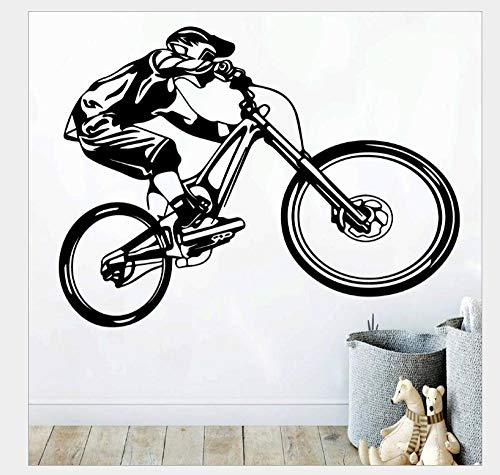 Pegatinas De Pared Hombres montando bicicleta personalidad pegatinas de pared sala de estudio sala de estar dormitorio sofá Fondo decoración de pared 56 * 42Cm