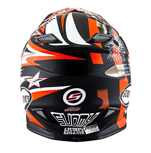 Suomy KSMJ0029.2 Helm für Moto-Cross MR Jump Bullet, Schwarz