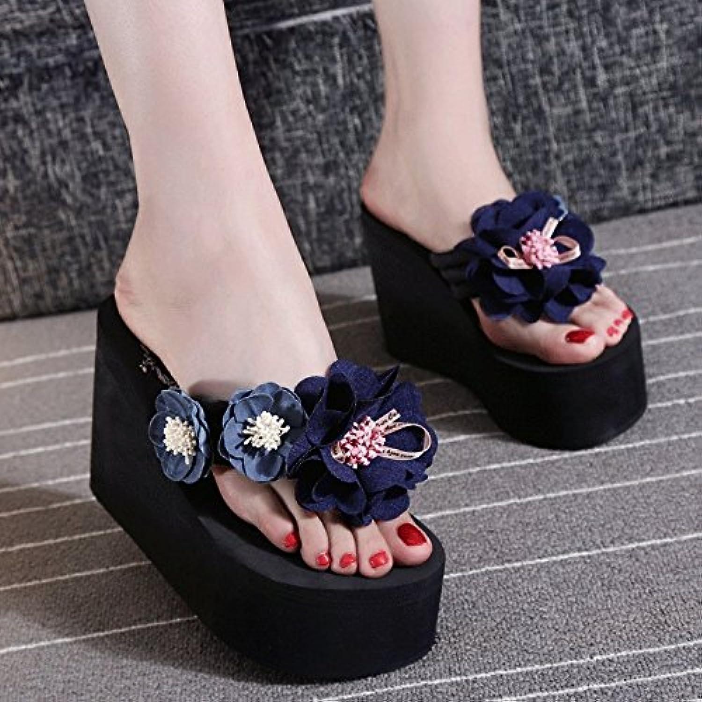 @Sandals High Heel Verschleiß, Rutschfeste, Flip Flops, Badeschuhe, Dick, Rund, Clip Füße  | Neues Design  | Verschiedene  | Kostengünstig
