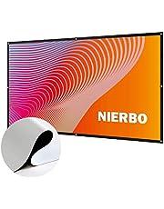 プロジェクタースクリーン NIERBO 50~300インチ 屋外屋内 会議 教室 投影用