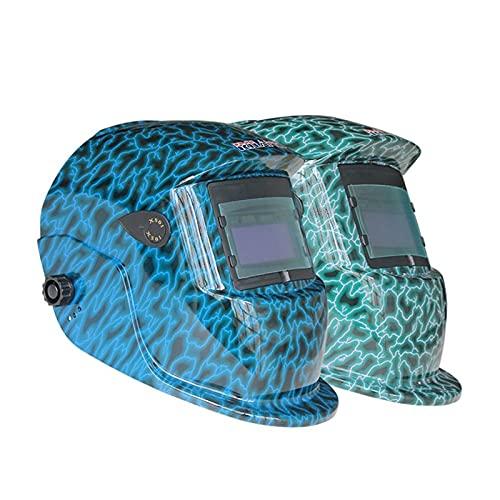 Accesorios de soldadura X501 Piezas de soldadura Cool Solar Auto Auto Oscuridad Soldadura Cascos Soldadura Máscara/Ojos Gafas para MMA MIG TIG MAG Maquina de soldar Kit de soldador (Color : Blue)