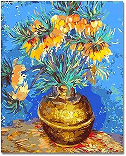 solo cómpralo UPUPUPUP Flores Flores Flores Pintura al óleo por números en Lienzo DIY Florero Digital Imágenes para Colorar por números para la Sala 2019, Tworidc5-50X70Cm Enmarcado  la mejor selección de