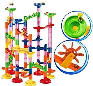 Seinlang マーブルランレースコースターセットラン鉄道おもちゃ建設おもちゃビルディングブロックマーブルランレースコースター迷路おもちゃ