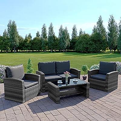 Albreo Rattan Wicker Weave Garden Furniture Sofa