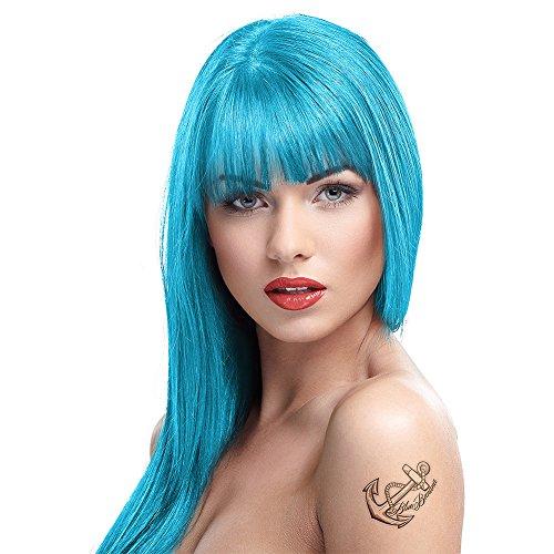 Coloration cheveux semi-permanente CRAZY COLOR, BUBBLEGUM BLUE, Bleu tendre