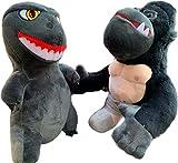 King Kong vs. Godzilla Plush Toys, Godzilla vs. King Kong Plush Toys, Godzilla Toy, King Kong Toy, 2 PCS, 9.8 in