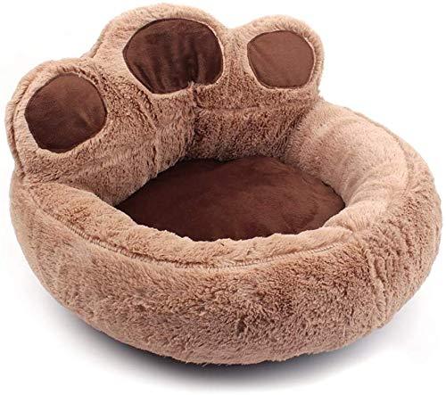 CVXCVCBCG huisdierbed kleine hondenmand Pet afneembaar en wasbaar waterdicht en vochtdicht basis-kat-hondenbed - bruin