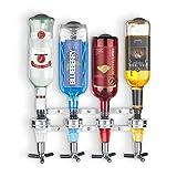 Final Touch 4-Bottle Wall Mounted Liquor Dispenser/Bar Caddy (FTA1804)