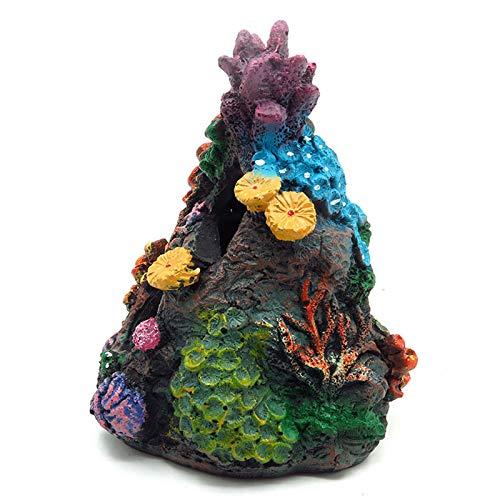 mingtian Korallen Aquarium Dekoration Aquarium Harz Rock Mountain Cave Ornamente Betta Fischhaus für Betta Sleeps Rest Hide New