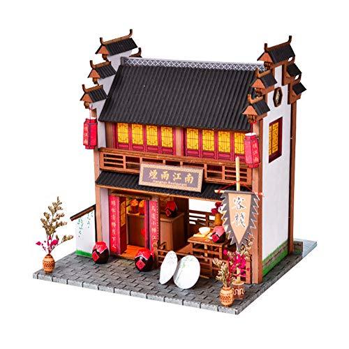 WonDerfulC - Juego de muebles de madera para casa de muñecas de estilo chino, para cumpleaños, día de San Valentín, regalo para mujeres y niñas (bodega)