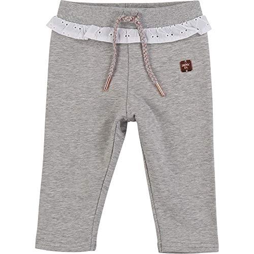 CARREMENT BEAU Pantalon en Molleton Fantaisie Bebe Couche Gris Clair Chine 18MOIS