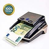 HILTON EUROPE HE-320B SD Detector Billetes Falsos sin batería 8 SISTEMAS DE DETECCION Actualizable actualizado nuevos billetes 100 y 200€ y nuevo billete de 20 LIBRAS luz ultravioleta