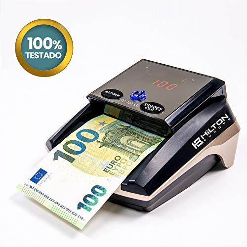 HILTON EUROPE HE-320B SD Detector Billetes Falsos sin batería 8 SISTEMAS DE DETECCION Actualizable actualizado nuevos billetes 100 y 200€ luz ultravioleta