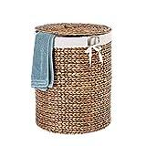Casa Mina Wäschekorb Wäschebox Wäschesammler aus Wasserhyazinthe Manila braun 42cm
