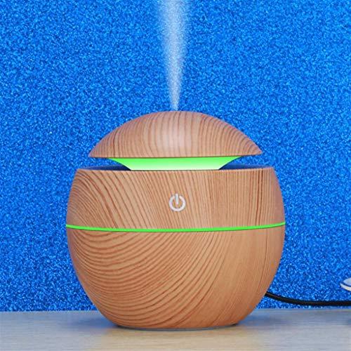 GYF 130ML Mini humidificador de Aire Luz de Noche Colorida portátil Aroma Difusor de Niebla para el automóvil Uso de Oficina en casa Dormitorio (Color : Light Brown)