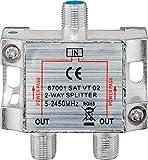 2-fach Sat-Verteiler 100dB 5-2500 MHz digital-tauglich