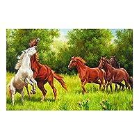 大人延伸キャンバスキット初級アーティスト - 水彩アクリル塗料油絵工芸品の装飾ギフトカラー象 (色 : Red horse, Size : 30x40cm)