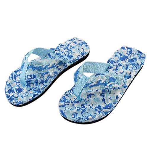 Amlaiworld Frauen Sommer Flip Flops Schuhe Sandalen Slipper innen & Outdoor Flip Flops (39, blau)