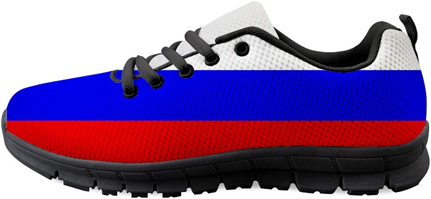 Owaheson Lace-up Sneaker Training shoes Mens Womens Russia Flag