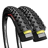 Fincci Pair 27.5 x 2.25 Inch 57-584 Foldable 60 TPI All Mountain Enduro Tires with Nylon Protection for MTB Hybrid Bike Bicycle - Pack of 2