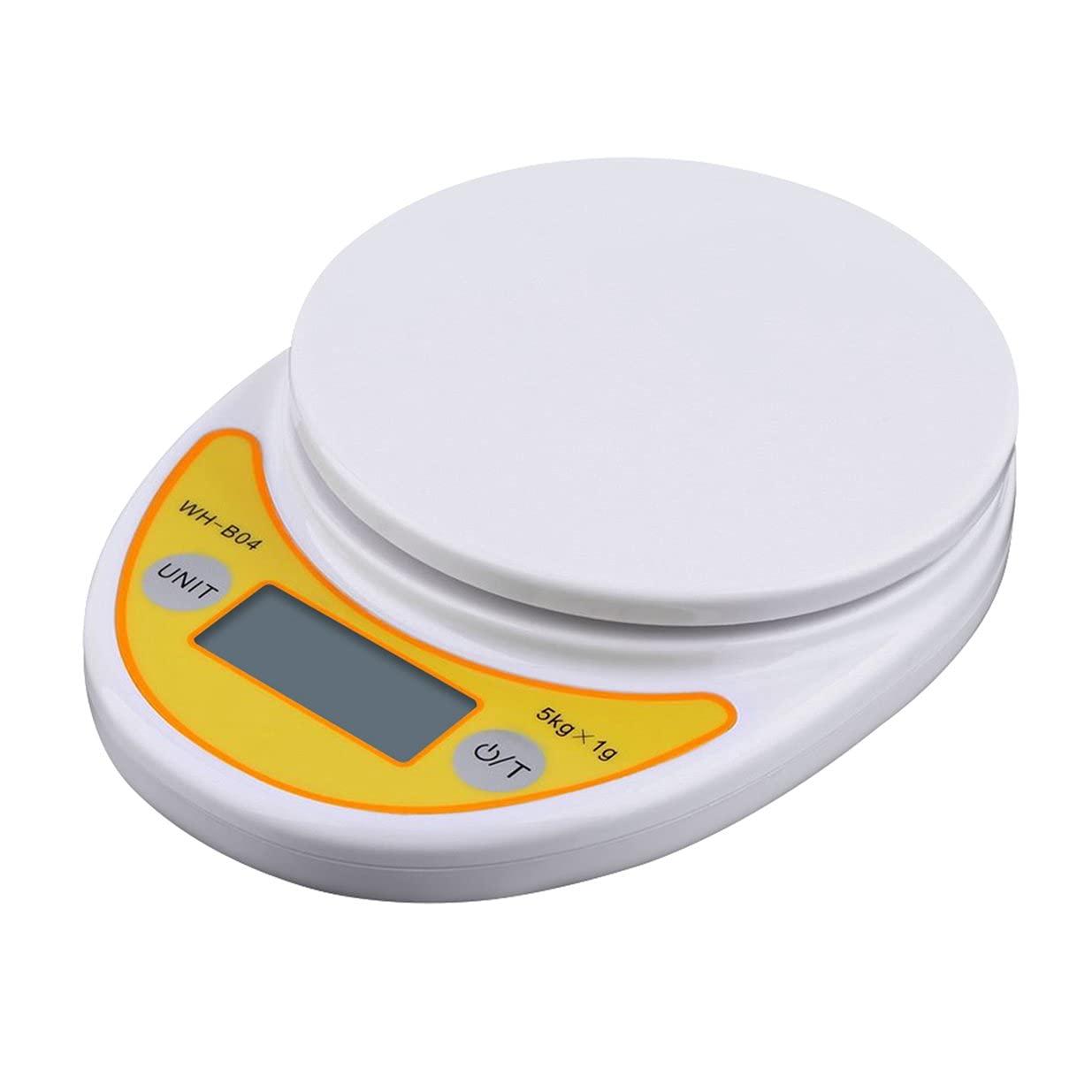 Timetided WH-B04 5 kg / 1g pantalla LCD digital electrónica de peso báscula de cocina para el hogar para balanzas de pesaje de alimentos