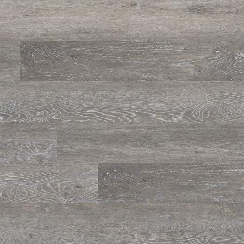 M S International AMZ-LVT-0002P Katalina Brushed Oak 6 inch x 48 inch Gluedown Adhesive Luxury Vinyl Plank Flooring for Pro and DIY Installation (70 Cases / 2520 sq. ft. / Pallet), Gray, Square Feet