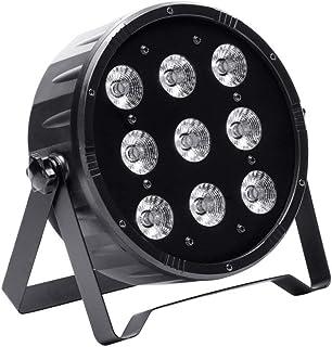 fbcebe8c0 UKing Par Led Luz de Escenario 9 x 10W LED RGBW Iluminación Focos de  Discoteca con