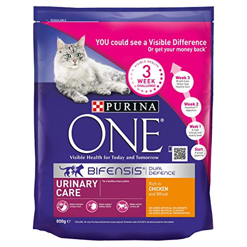 Purina One Urinary Care Dry Cat Food Chicken 800 g – Case of 4 (3.2kg)