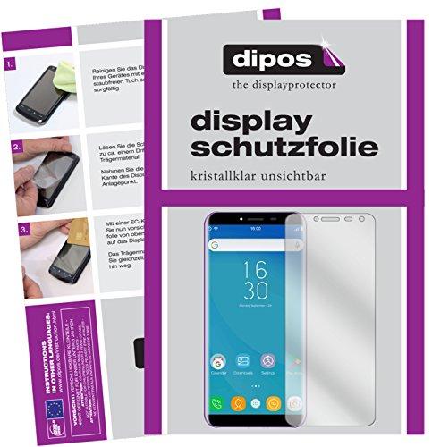 dipos I 2X Schutzfolie klar kompatibel mit Oukitel C8 Folie Bildschirmschutzfolie