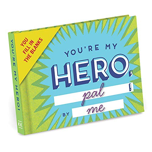 Knock Knock Why You're My Hero Fill in the Love Book Fill-in-the-Blank Gift Journal, 4.5 x 3.25-inches