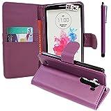 VComp-Shop® Violette Étui portefeuille en cuir synthétique avec compartiments pour cartes et...