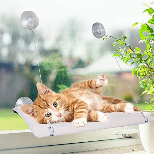 Hamaca extraíble para Ventana de Gato, con ventosas Grandes