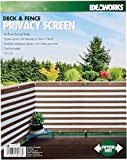 """IdeaWorks New Deck & Fence Privacy Durable Waterproof Netting Screen with Grommets and Reinforced Seams (Brown), 15' x 3"""""""