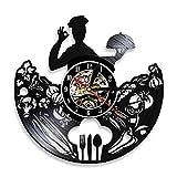 Nfjrrm Cocina Chef Reloj de Pared de Cocina Cocina Disco de...