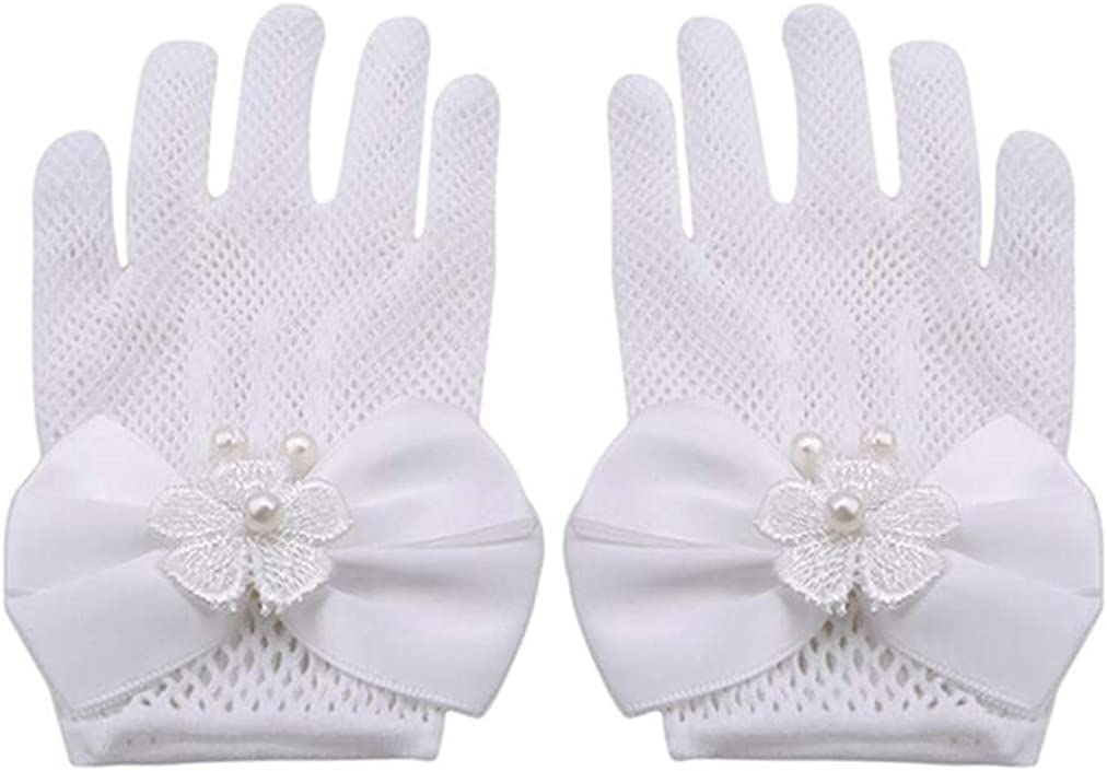 Sevenfly Sale item Flower Girls Bow Inventory cleanup selling sale Tie Lace Wedding Gloves Girl Ball for