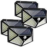 100LED Solar Power PIR Motion Sensor Wall Light , 270º Motion Sensor Security Solar , Waterproof Outdoor Garden Lamp(4Pack)