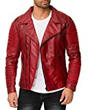Reichstadt Herren Jacke Bordeaux - RS006 PU - Black Zipper L