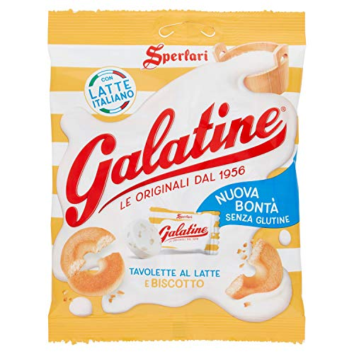 Galatine - Caramelle al Latte e Biscotto, Busta di Tavolette al Latte - Sacchetto da 115 Grammi