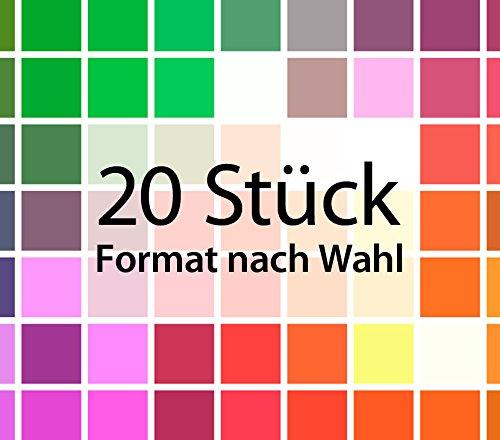 Wandora G074 Wandtattoo Fliesenaufkleber Fliesendekor 20 Stück rot (BxH) 20 x 25 cm