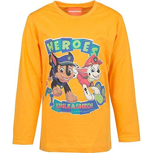 Paw Patrol Boy Pullover AUSWAHL Langarm Shirt T-Shirt Sweatshirt Minnie Mouse (6 Jahre, Orange)