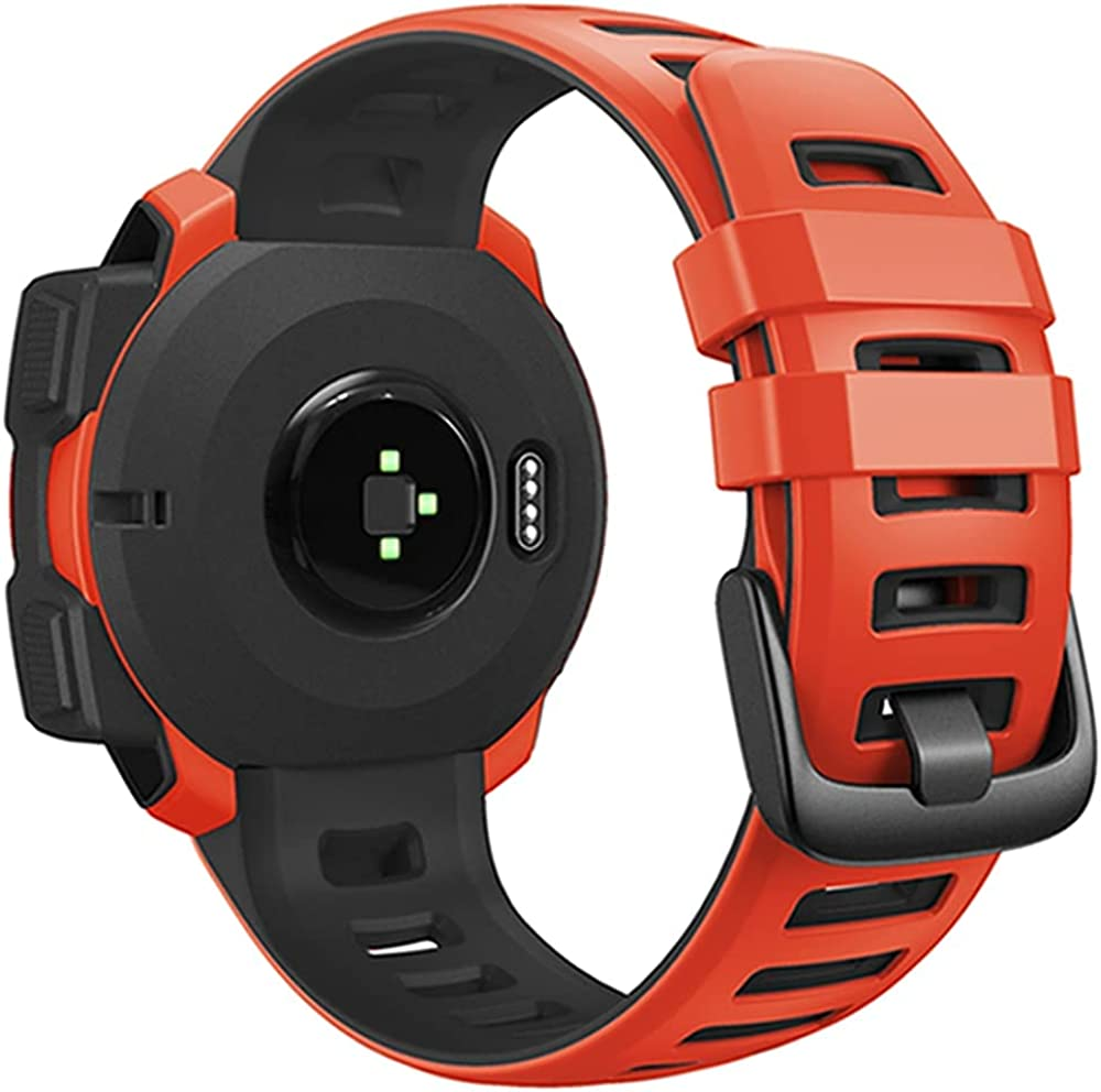 JKER Compatible with Garmin Instinct W Silicone Soft Sport Band Same day shipping Phoenix Mall