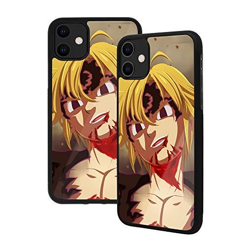Funda para iPhone 12 Pro Max, Seven Deadly Sins (Nanatsu no Taizai), carcasa trasera de vidrio templado premium [absorción de golpes] marco de goma suave con agarre (iPhone 12 Pro Max, Meliodas)