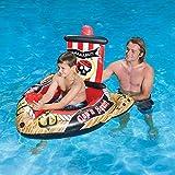 Flotador de piscina para niños de barco pirata hinchable, juguete de riego, flotador de piscina de refrigeración duradero para niños