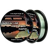 Angel-Berger Spezial Line Angelschnur Zielfischschnur Aal, Forelle, Hecht, Zander, Karpfen, Dorsch, Weissfisch (Weißfisch Match, 0,16mm / 3,10Kg)