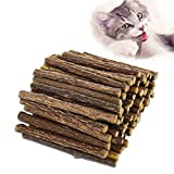 AIDIYA Catnip De Hierba Gatera De Matatabi para Gatos Natural Cuidado Dental Chew Catnip Sticks para Dientes Diámetro de Limpieza (M)