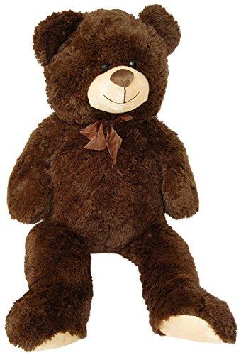 Wagner 9043 - XXL Plüschbär Teddy Bär - 90 cm groß - dunkel-braun - riesen Teddybär Kuschelbär